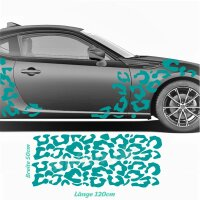 Seitenstreifen Leopard Muster Camouflage Auto Aufkleber