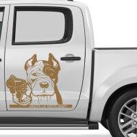 Pitbull Gängster Hund Autoaufkleber